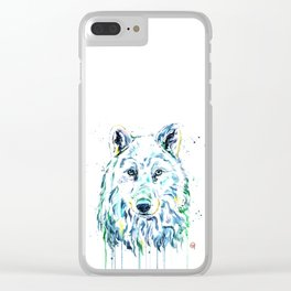 Arctic Wolf Clear iPhone Case