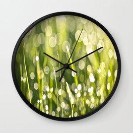 Beautiful Morning Dew On A Green Grass #decor #society6 #buyart Wall Clock