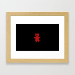 Red cute teddy bear Framed Art Print