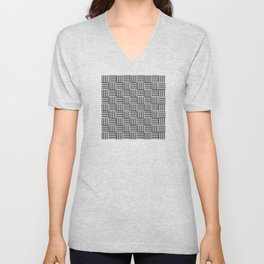 op art - cross hatch Unisex V-Neck