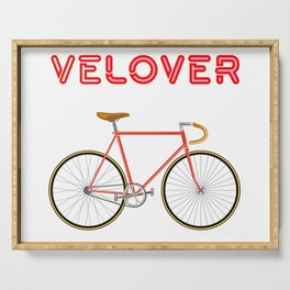 VeLover – Racer 2 – June 12th – 200th Birthday of the Bicycle Serving Tray