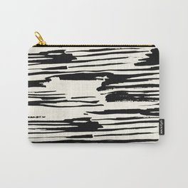 Rough Brush on Ivory Carry-All Pouch