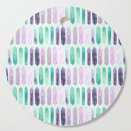Love More Crystals Collection in Mint; Amythest, Rose Quartz, Calcite, Fluorite Cutting Board
