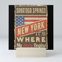 Saratoga Springs New York Mini Art Print