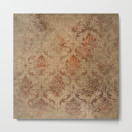 Aged Damask Texture 1 Metal Print