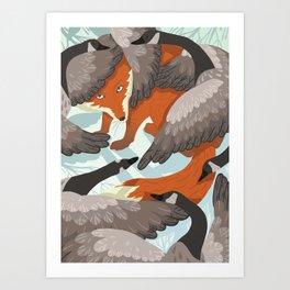 Smirre Fox Art Print