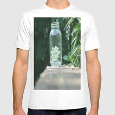Queen Anne's Lace/Jar w/ bokeh MEDIUM Mens Fitted Tee White