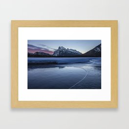 Vermilion Lakes Sunrise Framed Art Print