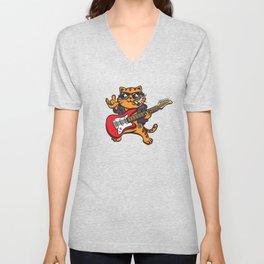 Rockstar Cat Unisex V-Neck