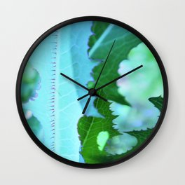 clouds-thistle-abstract Wall Clock