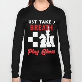 Amazing Gift. Costume For Chess Lover. Long Sleeve T-shirt