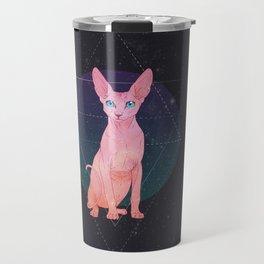 Galaxy Sphynx Cat Travel Mug