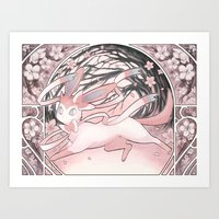 sylveon Art Prints featuring Sylv by Weissidian