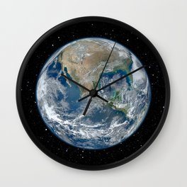 EARTH FROM SPACE Wall Clock