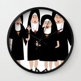Nuns Wearing Habits Wall Clock
