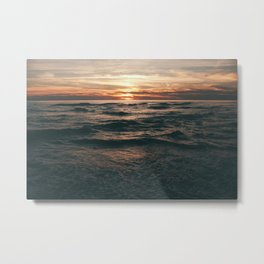 wavesunset Metal Print