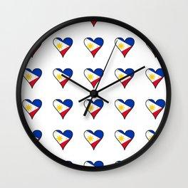 Flag of Philippines 3 -Pilipinas,Filipinas,filipino,pinoy,pinay,Manila,Quezon Wall Clock