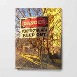 Fair Warning Metal Print