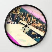 kill la kill Wall Clocks featuring Kill! Kill! by LA CRISE
