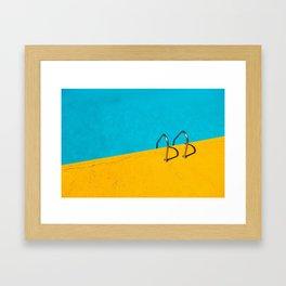 yellow blue pool Framed Art Print