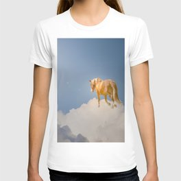 Walking on clouds over the blue sky T-shirt