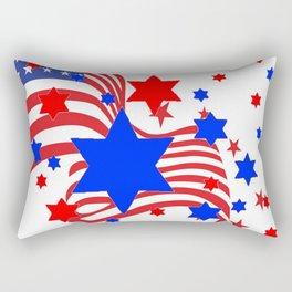 PATRIOTIC JULY 4TH AMERICAN FLAG ART Rectangular Pillow