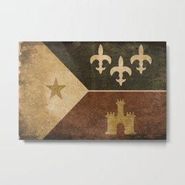 Acadian Flag Metal Print