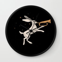 Marching Hare Wall Clock