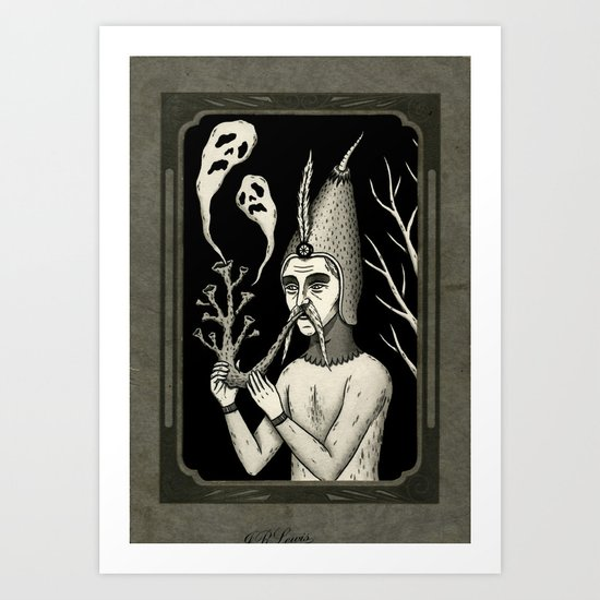Man With Ghost Pipe Art Print