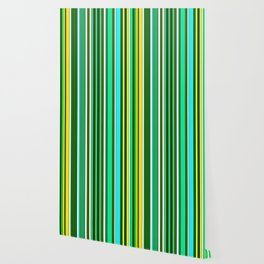 GREEN SPRING STRIPES Wallpaper