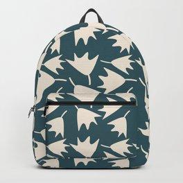 Modern Bold Ginko Leaves on Dark Blue Backpack