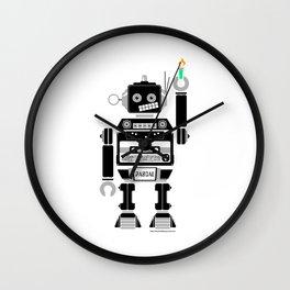80s Mix Tape Robot - Pascal Wall Clock
