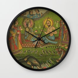 Vintage Indian Label Wall Clock