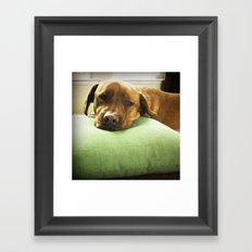 Green Pillow Framed Art Print