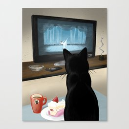 Watching TV Canvas Print