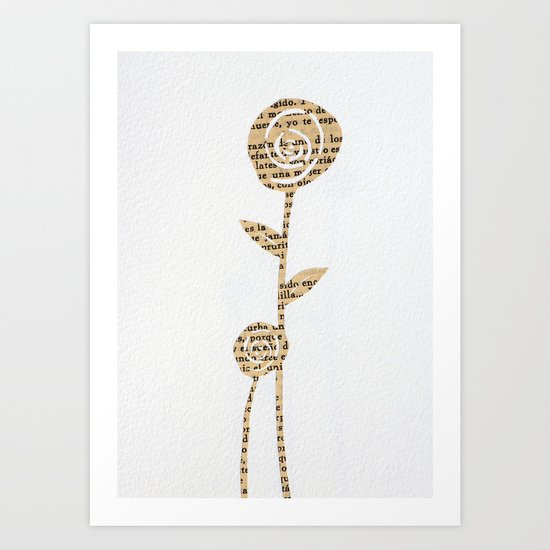 Papercut Flower 1 Art Print