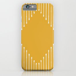 Geo / Yellow iPhone Case