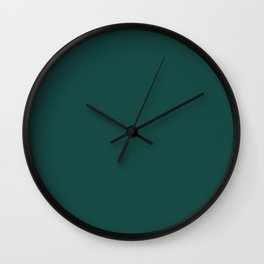Solid Color Pantone Forest Biome 19-5230 Green Wall Clock
