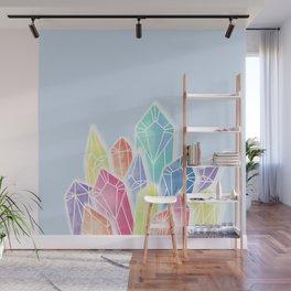 Crystals Blue Wall Mural