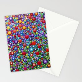 Colorful Dotart by Mandalaole - Spring flowers Stationery Cards