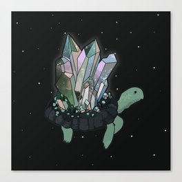 Space-Age Crystals Canvas Print