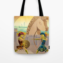trojan war and troy horse Tote Bag
