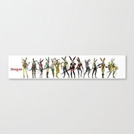 Dragon Age Bunnies Set #1 Canvas Print