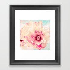 Pastel poppy Framed Art Print