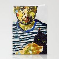 murakami Stationery Cards featuring haruki murakami by Basma