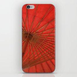 Big Asia Umbrella Red Colors iPhone Skin