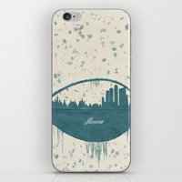 moscow iPhone & iPod Skins featuring Frozen Moscow by Paula Belle Flores