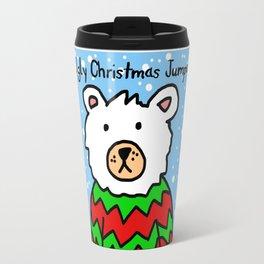 Ugly Christmas Jumper  - Polar Bear Travel Mug