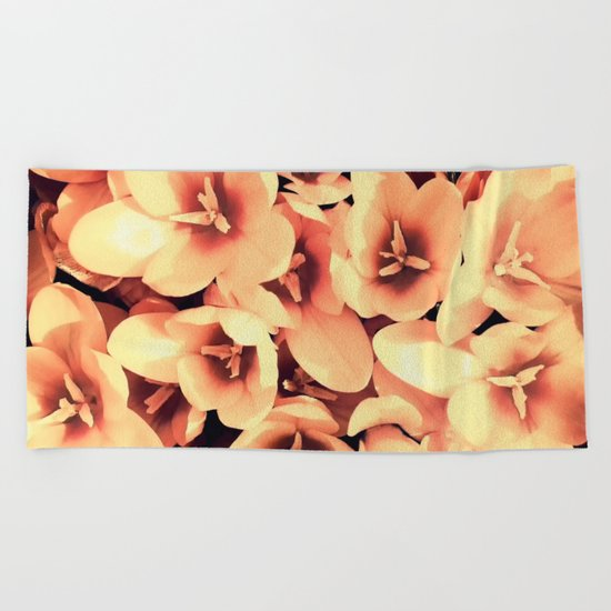 Flowers in the garden Beach Towel