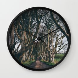 Dark Hedges Wall Clock